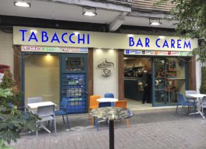Insegna monofacciale per bar con loghi e scritte in plexiglas